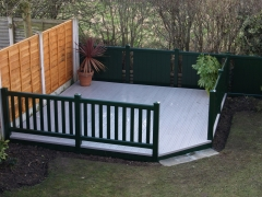 Square garden deck with chamfered corner.JPG