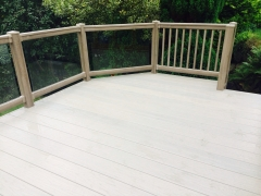 Anteak and Tawny Fensys garden deck holiday home decking steps park estate lodge installers suppliers manufacturers sundecks vinyl plastic skirting deck board pvc upvc extrusion polymer composite wpc wood free galvanised steel sub-frame
