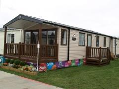 Fensys decking on Swift Bordeaux Escape holiday home caravan lodge park estate upvc plastic vinyl deck board