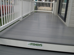 Fensys Premium Excel Driftwood Deck board holiday home decking steps park estate lodge installers suppliers manufacturers sundecks vinyl plastic skirting deck board pvc upvc extrusion polymer composite wpc wood free galvanised steel sub-frame