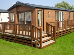 Fensys decking on Swift Moselle Lodge holiday home caravan upvc plastc pvc vinyl park estate sundeck veranda