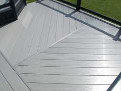 Driftwood deck board fitted herringbone holiday home decking steps park estate lodge installers suppliers manufacturers sundecks vinyl plastic skirting deck board pvc upvc extrusion polymer composite wpc wood free galvanised steel sub-frame