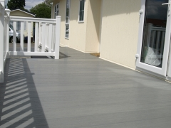 Driftwood Plastic UPVC decking from Fensys holiday home decking steps park estate lodge installers suppliers manufacturers sundecks vinyl plastic skirting deck board pvc upvc extrusion polymer composite wpc wood free galvanised steel sub-frame