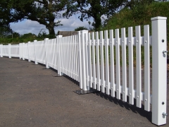 UPVC plastic mobile picket fencing portable fencing fence supplier manufacturer extrusion installer ranch picket garden balustrade panel pvc wood effect gate plastic upvc