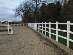 Equestrian ménage boundary UPVC plastic fencing