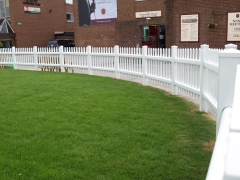 UPVC plastic pale picket style fencing