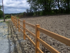 Equestrian centre UPVC fencing