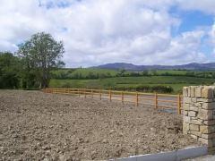 Equestrian plastic UPVC field boundary fence