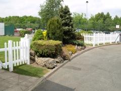 Garden UPVC plastic boundary fencing