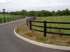 Home driveway ranch UPVC plastic fence