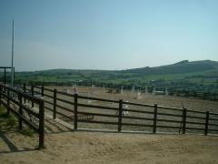 Horse menage boundary UPVC plastic ranch fence