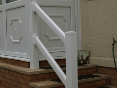 UPVC plastic white stair rail ranch style