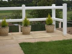 UPVC plastic white 2 rail ranch fencing