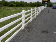 UPVC plastic ranch style fencing 3 bar
