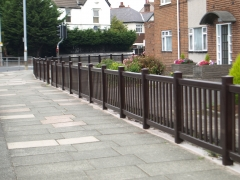 UPVC plastic balustrade style fencing front garden fencing fence supplier manufacturer extrusion installer ranch picket garden balustrade panel pvc wood effect gate plastic upvc