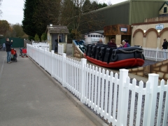 UPVC plastic low maintenance picket palisade fence at Drayton Manor Park