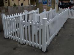 UPVC plastic low maintenance fencing pedestrian control