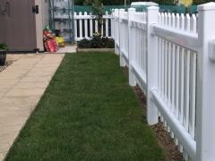 Park home garden plastic fence