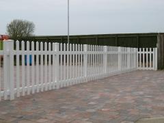 Pedestrian control UPVC plastic temporary fencing