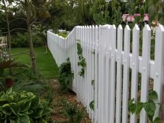 UPVC plastic garden picket fencing