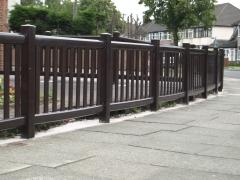 Plastic UPVC balustrade boundary fencing