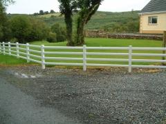UPVC plastic ranch style fencing farm