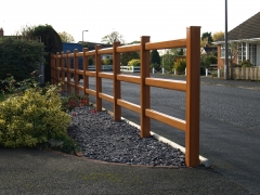 UPVC Front garden ranch style fence.JPG