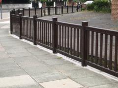 UPVC plastic car park fencing.JPG