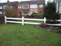 low 2 rail garden UPVC ranch fence
