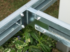 Zinc plated half T welded bracket