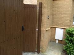 Fensys UPVC plastic driveway gate hanging post