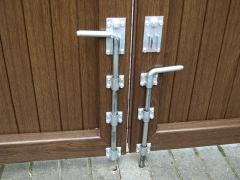 Fensys heavy duty galvanised gate drop bolt Upvc plastic gate