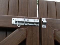 Fensys heavy duty galvanised gate pad bolt Upvc plastic gate
