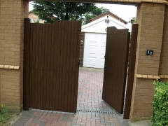 Fensys low maintenance UPVC plastic gate
