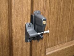 Fensys outdoor nylon & stainless steel self latching gate lock Upvc plastic gate