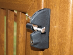 Lockable nylon & stainless veranda gate lock.JPG