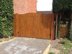 plastic driveway gate golden oak.jpg