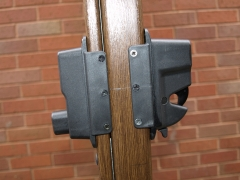 UPVC gate press button release Upvc plastic gate