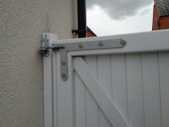 adjustable hinge galvanised heavy duty on fensys upvc plastic side entry garden gate