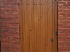 bow top curved arched radiused upvc gate plastic home garden side back entry
