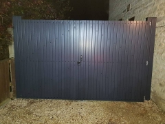 dark gayle grey foiled renolit upvc plastic driveway garden side gate entry