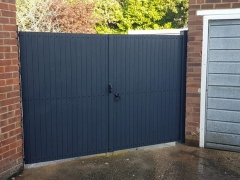 doule gates upvc plastic lockable antharcite dark gayle grey renolit foiled