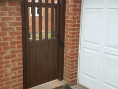 fensys stanley style gate upvc plastic see through wood grain rustic oak back garden