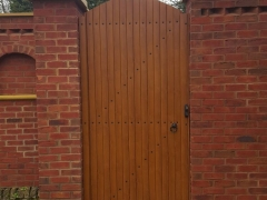 front garden side back gates upvc foiled plastic golden oak lockable