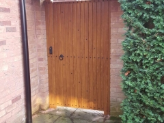 lockable side gate plastic upvc pvc foiled to match windows