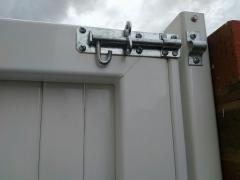 pad bolt galvanised on upvc side entry garden gate please white long life