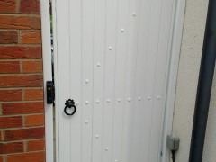 side upvc white garden entry gate plastic fensys polymer will not rot