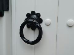 upvc gate ring latch on white plastic gate