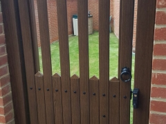 upvc plastic back garden gate in stanley style