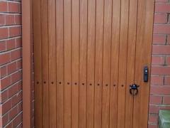 wood free upvc plastic arch top side garden gate